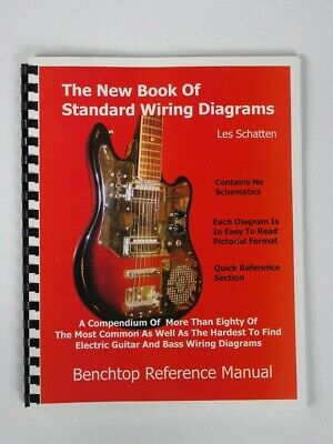 the new book of standard wiring diagrams for guitar / bass pickups les  schatten  ebay