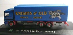 Cararama-Escala-1-80-Mercedes-Benz-Actros-Camion-Caballeros-De-Antano-totalmente-Nuevo