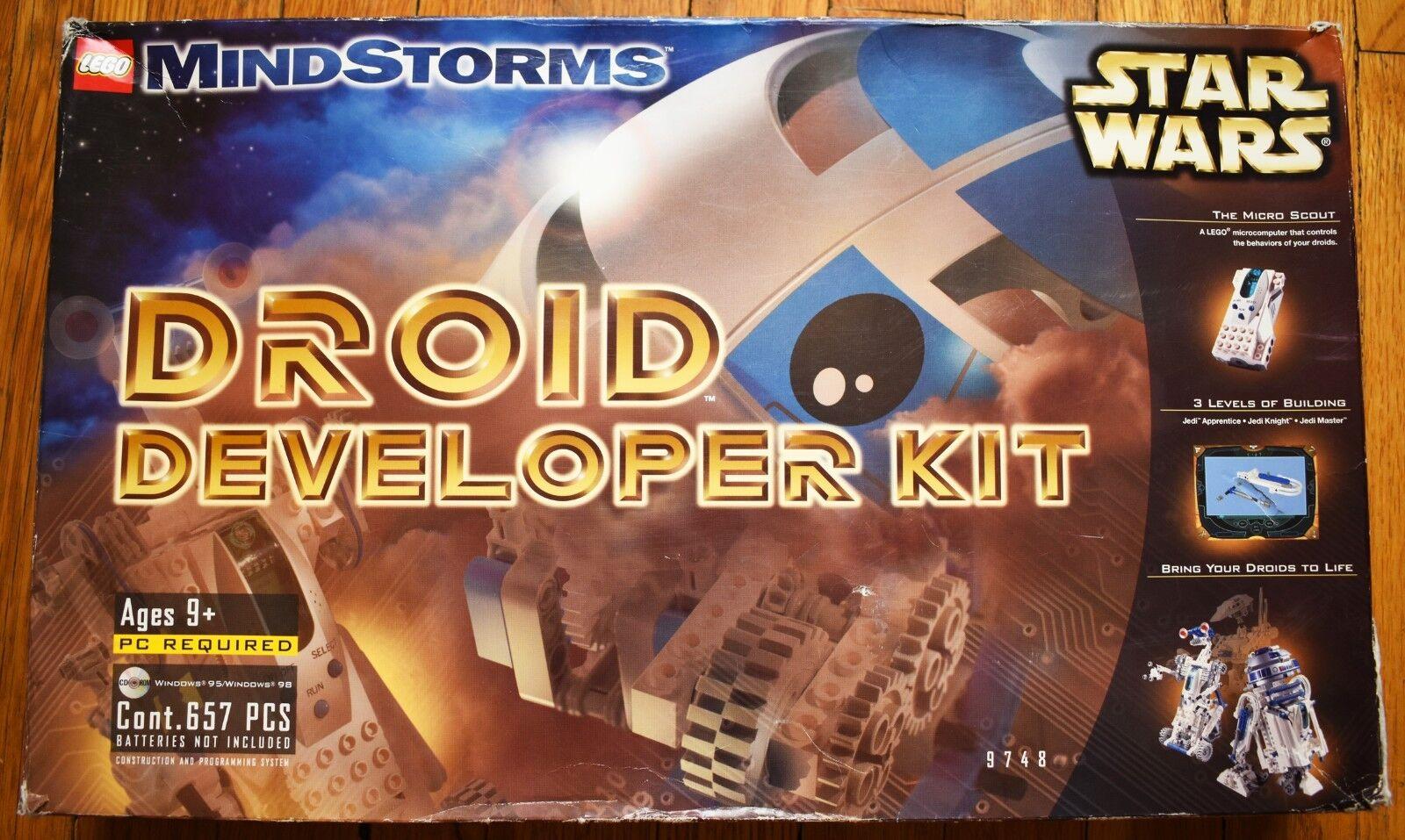 LEGO stjärnornas krig Mindstorms Droid Utvecklare Kit 9748 - KOMPLETE - MISSING CD -ROM