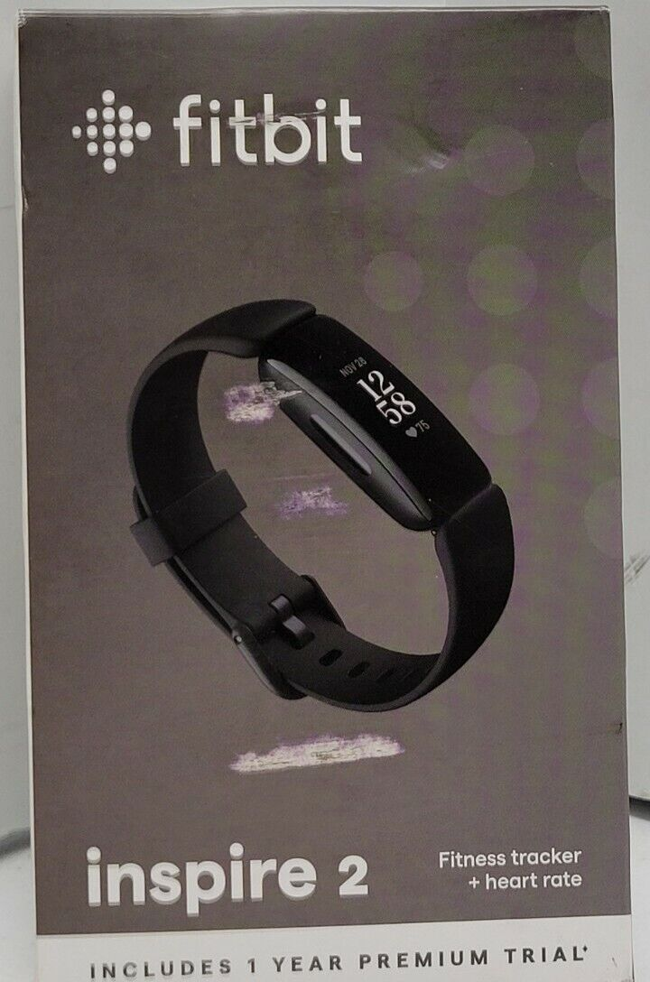 Fitbit Inspire 2 Activity Fitness Tracker + Heart Rate Tracker Black New Sealed