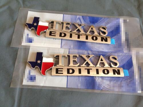 2x  Texas Flag Edition Emblem Fender Tailgate Door Badge 3M Stick