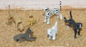 6-Assorted-Dogs-OO-Scale-1-76th-Langley-F66