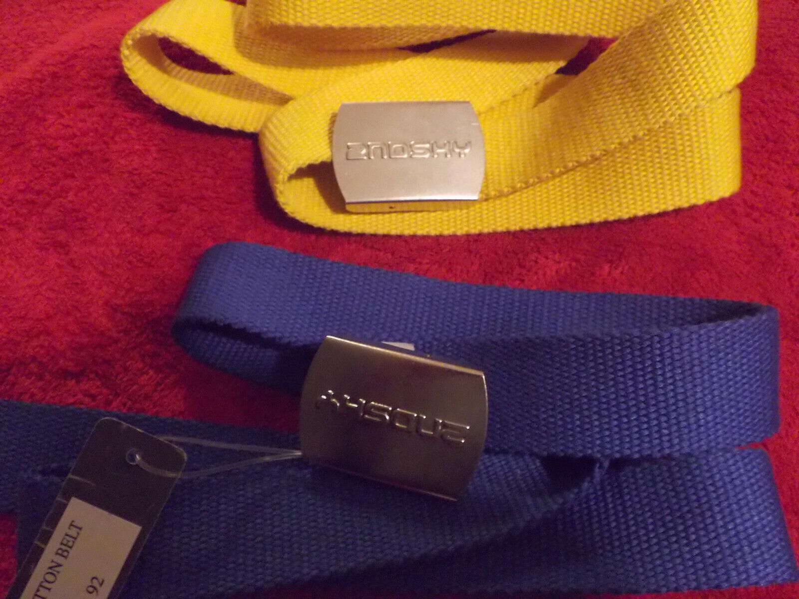 3 x 2nd Sky Gürtel blau, rot, gelb Klemmschnalle NEU Surf, Streetwear