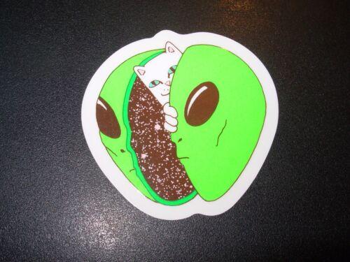"""RIPNDIP Skate Sticker NERMAL ALIEN HEAD 2.5X2.5/"""" skateboards helmets decal"""