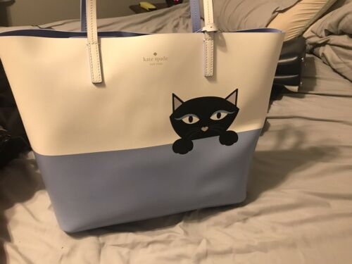 Kate Spade Jazz Peeking Cat Little Len Bag *RARE*