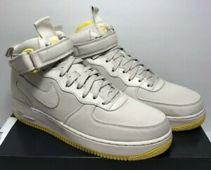 sports shoes 63f52 5224c Nike Mens Sz 11 Air Force 1 Mid '07 Canvas Desert Sand Beige Yellow ...