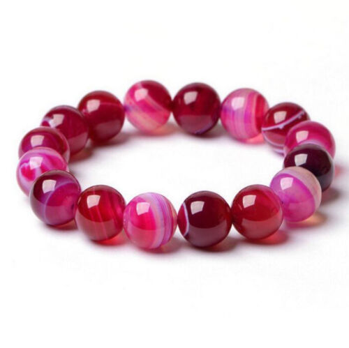 Handmade Natural Fashion round gemstone beads stretchable bracelet jewelry