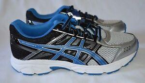 9335c2b38b07 ASICS Kids  Gel-Contend 4 GS Running Shoe Silver Classic Blue Black ...