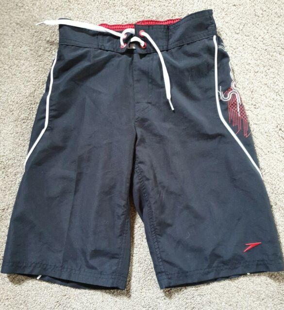 Boys Speedo Swim Shorts Black Size Small
