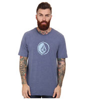2015 Mens Volcom Stacking Surf Tshirt $30 M Matured Blue Anti-uv Rash