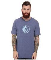 2015 Mens Volcom Stacking Surf Tshirt $30 M Matured Blue Anti-uv Rash