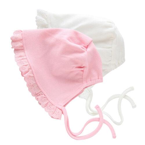 Infants Hat Lace Up Princess Cap Comfort Newborn Beanie Bonnet Hats Hair Warp CO