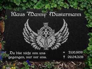Grabstein GRABPLATTE Gedenkplatte Biker 02►Gravur Ihr Text Garten- & Parkeinrichtung Motiv◄ 30 x 20 cm