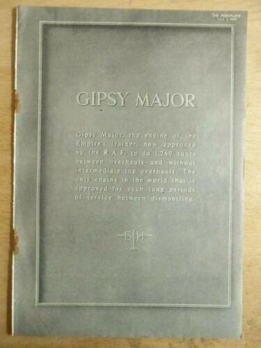5//1942 PUB DE HAVILLAND GIPSY MAJOR ENGINE RAF ORIGINAL AD