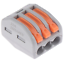 thumbnail 14 - 2/3/4/5/8 Way Reusable Spring Lever Terminal Block Electric Cable Wire Connector