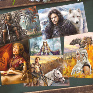 Lot 6 Modern Postcards Game of Thrones Art Russian Unposted Souvenir Gift Set