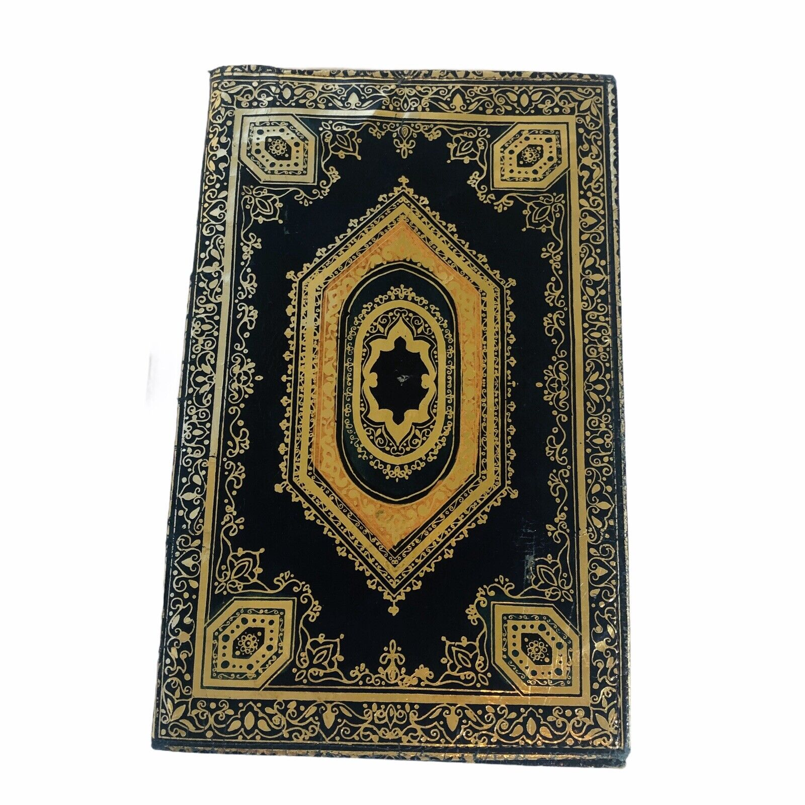 Moroccan Real Leather Hand Made Wallet Leather With Gold Trim