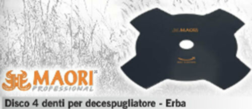 LAMA DISCO PROFESSIONALE DECESPUGLIATORE UNIVERSALE 4 DENTI ACCIAIO MAORI