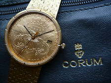 Corum 20 dollar heritage all gold men's wrist watch