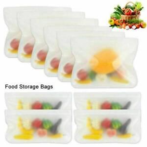 10X-Fresh-Bag-Reusable-Silicone-Food-Freezer-Storage-Lunch-Sandwich-Bag-CA