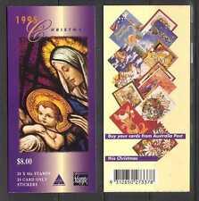 Australia 1995 Christmas/Madonna/Cards 20v bklt n20350