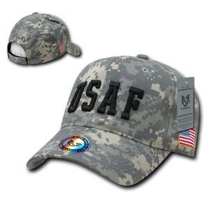 5fa906eb415 United States US Air Force Military USAF Embroidered Camo Baseball ...