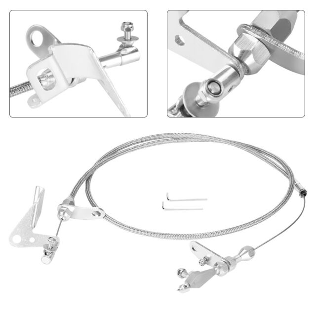 Miraculous Stainless Braided Kickdown Cable Detent Transmission Trans For Wiring Cloud Oideiuggs Outletorg
