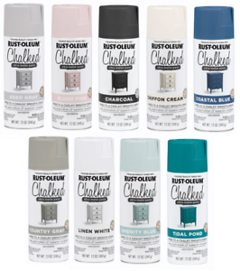 Details About Rust Oleum Chalked Ultra Matte Finish Chalk Spray Paint 12oz Pick Color New Diy