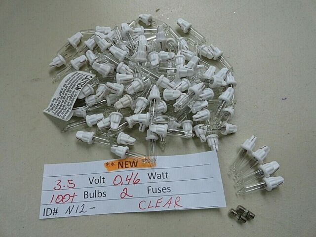 CLEAR Replacement Mini Glass Bulb Incandescent 3.5 Volt 0.46 Watt OR 200 100