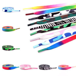Rainbow Multi-Colored Canvas Athletic Shoelace Shoe Laces Free Shipping String #