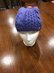 718a1496393e5e The North Face Youth Minna Cable Knit Beanie Hat Starry Purple NWT ...