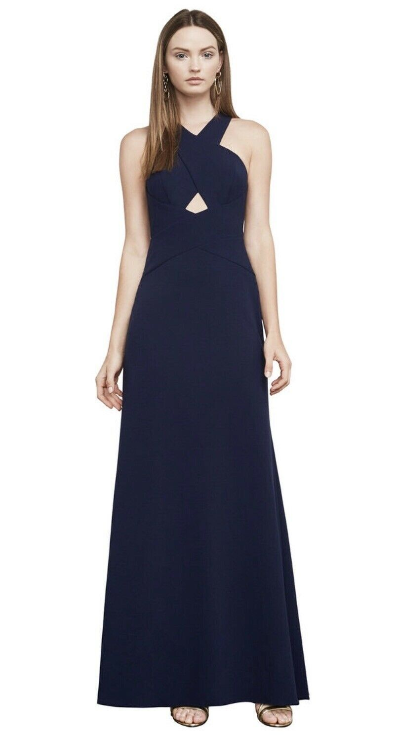 BCBG Max Azria damen Salome Navy Halter Evening Formal Dress Gown Größe 6 Prom