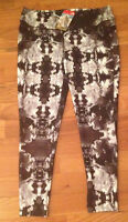 The North Face Printed Piper Pants Yoga Workout Leggings Black Womens Xl