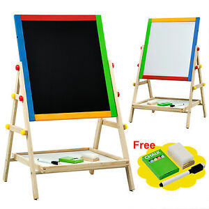 Children's Paint & Drawing Artist Easel with Chalkboard & Dry Erase Board M