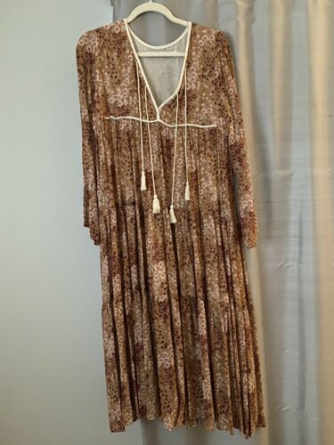 Christy Dawn Paloma Dress Rust Garden xs/s