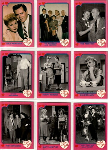 PINK BORDER COMPLETE BASIC TRADING CARD SET 1991 I LOVE LUCY