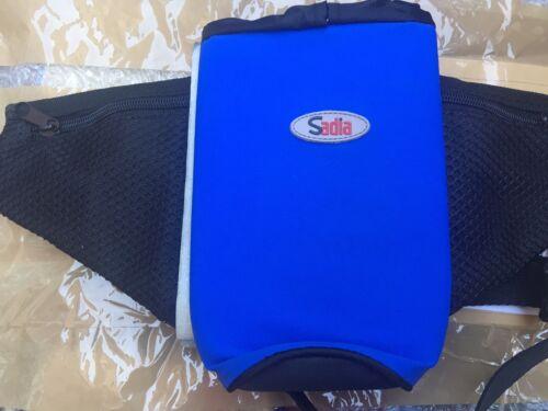 Adjustable Waist Sadia Blue Black Fanny Pack Waist Bag with Water Bottle Holder