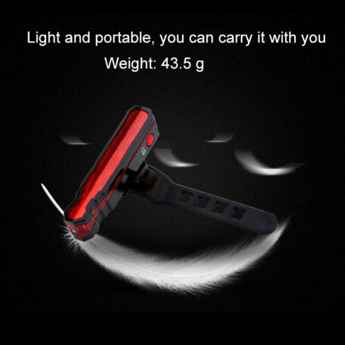 USB Rechargeable Mountain Bike Bicycle Laser /& 5 LED Rear Tail Light Cycle Lamp