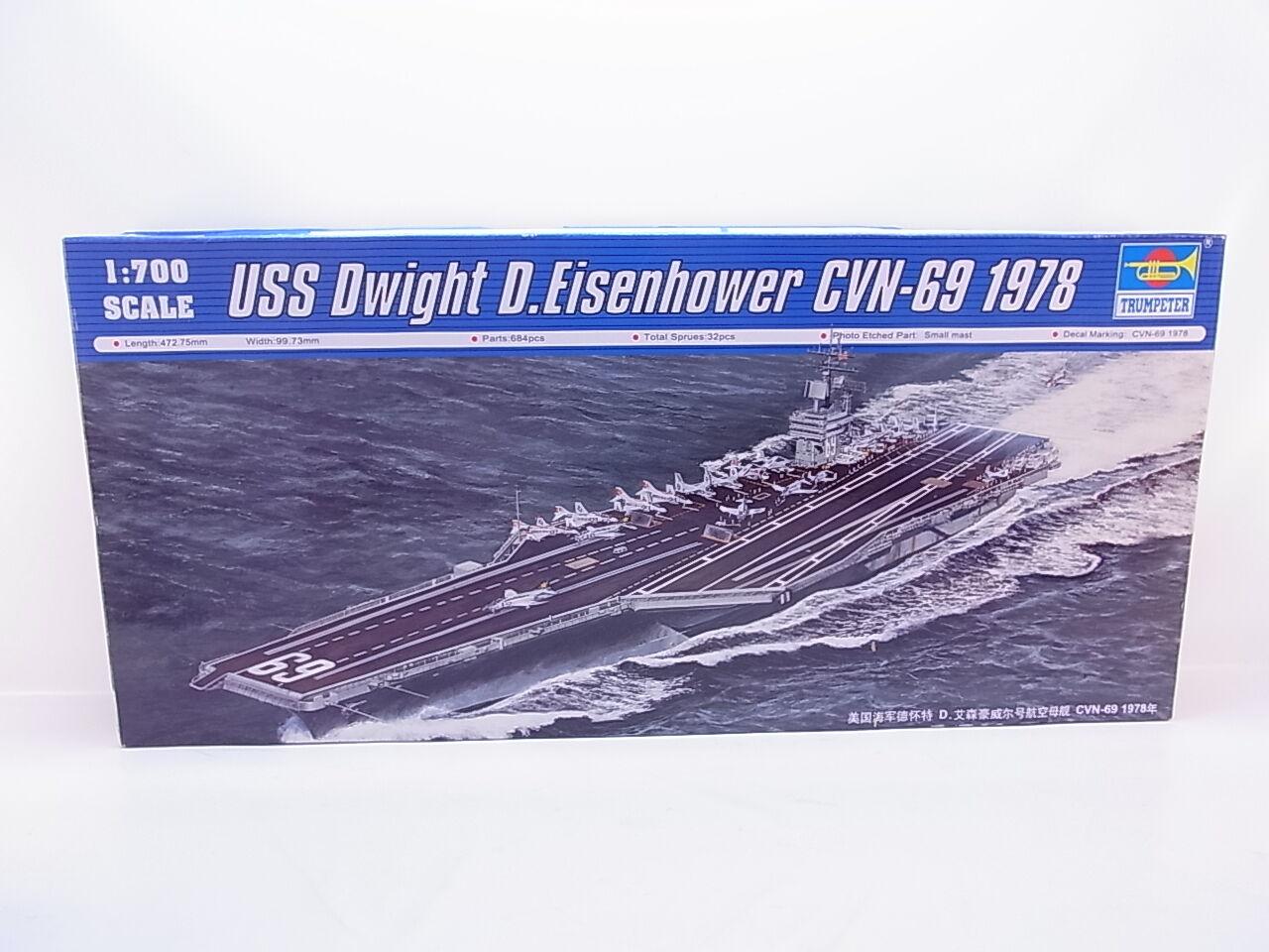 LOT 39025   Trumpeter 05753 USS Dwight D. Eisenhower  1 700 Bausatz NEU OVP  | Neues Produkt