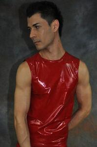 MUSKEL-LACK-GLANZ-SHIRT-RED-BODY-ART-Gr-4-S-5-M-6-L-7-XL