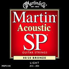 Martin SP Bronze Acoustic Guitar Strings MSP3100 80/20 Light 12 - 54 UK SELLER
