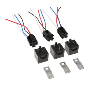 3Pc-Waterproof-12V-DC-4Pin-SPST-Automotive-Car-Relay-40A-with-4-Wire-Socket