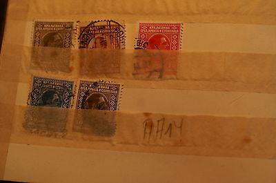 (aa14) 5 Sehr Alte Slowenische? Briefmarken Gestempelt, Ohne Prüfung!