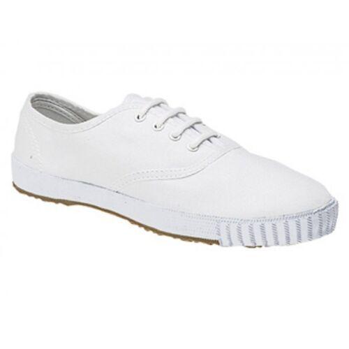 DEK Senior Mens Canvas 4 Eyelet Lace Up Casual Comfy Rubber Sole Plimsolls Shoes