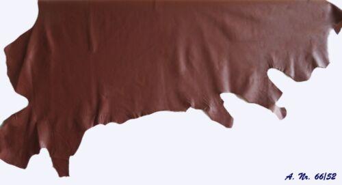 Leder Rindnappaleder Stücke Zuschnitte Mittelbraun Braun 66//52  versch Größen