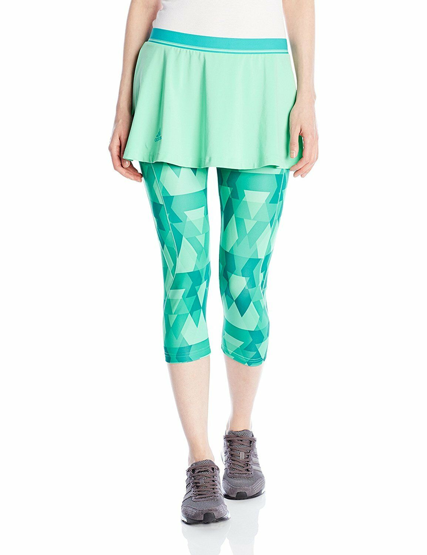 Adidas Performance Női Club Trend Skort-Leggings Glow Green Méret S