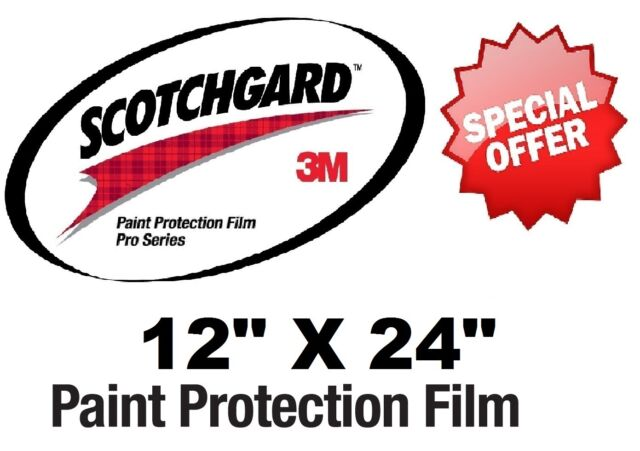 "24/"" x 48/"" New 3M Scotchgard PRO Series Paint Protection Film Bulk Roll"