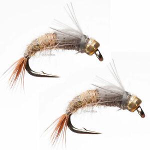or 20 Umpqua 18 Barr/'s Bead Head Pale Morning Dun Nymph PMD Fly 16