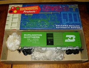 Roundhouse-1041-HO-Scale-AAR-40-039-Steel-Boxcar-034-BURLINGTON-NORTHERN-034