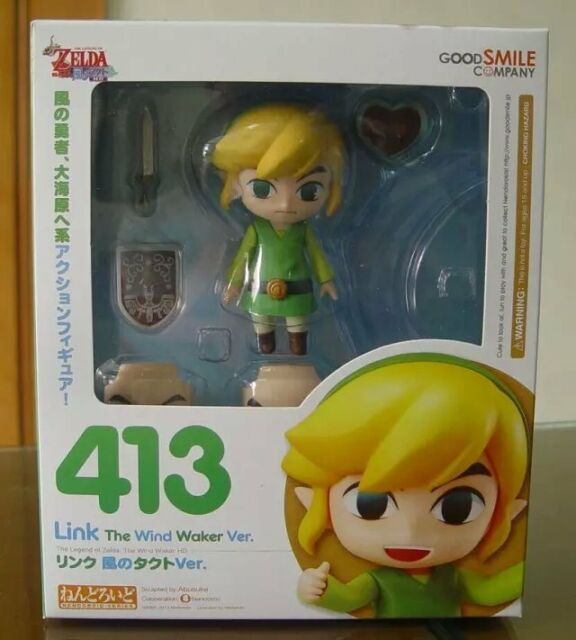 Gift Link Nendoroid # 413 PVC Figure The Legend Of Zelda : The Wind Waker